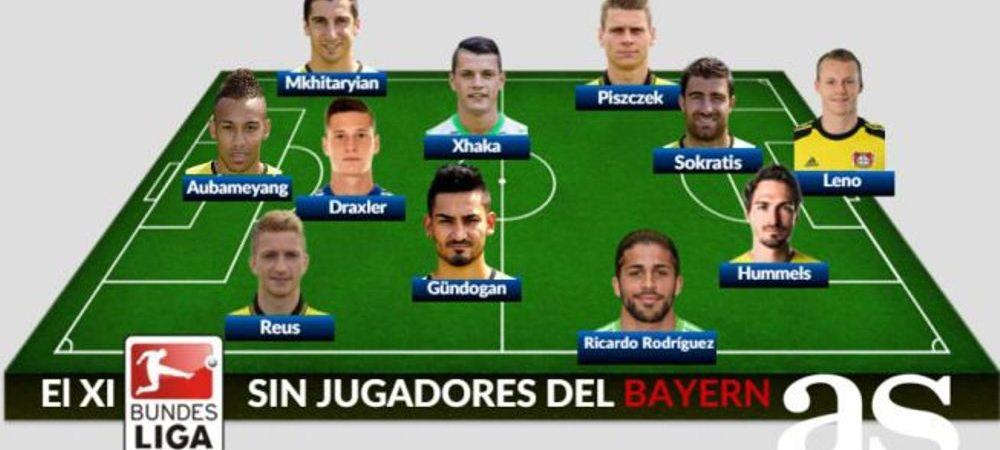 Cum arata cel mai bun 11 din Bundesliga FARA starurile de la Bayern Munchen