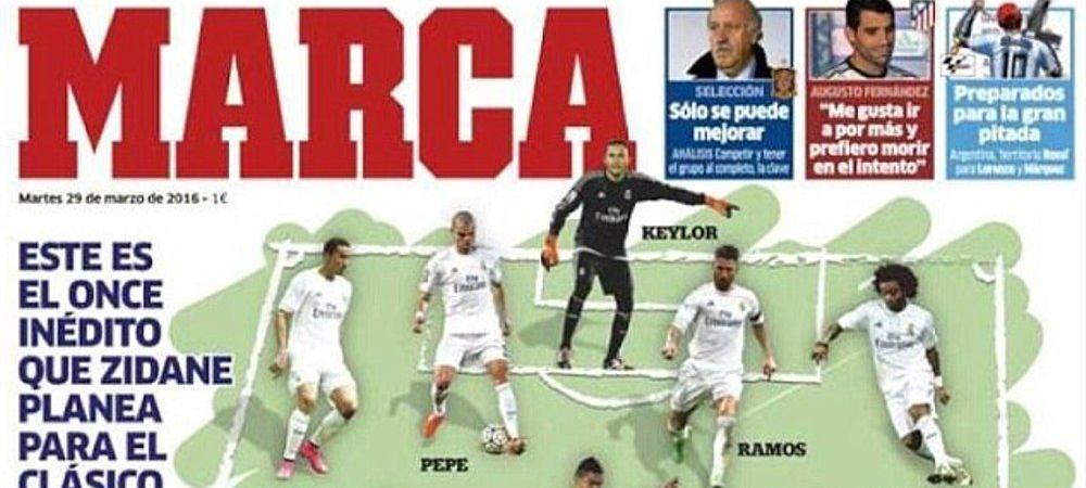 """Marca anunta de azi """"echipa de start fara precedent"""" pe care Zidane o va arunca in El Clasico! Ce pregateste cu Barcelona"""