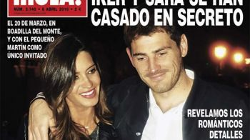 Iker Casillas si Sara Carbonero s-au casatorit in SECRET! Care a fost singurul invitat de la nunta