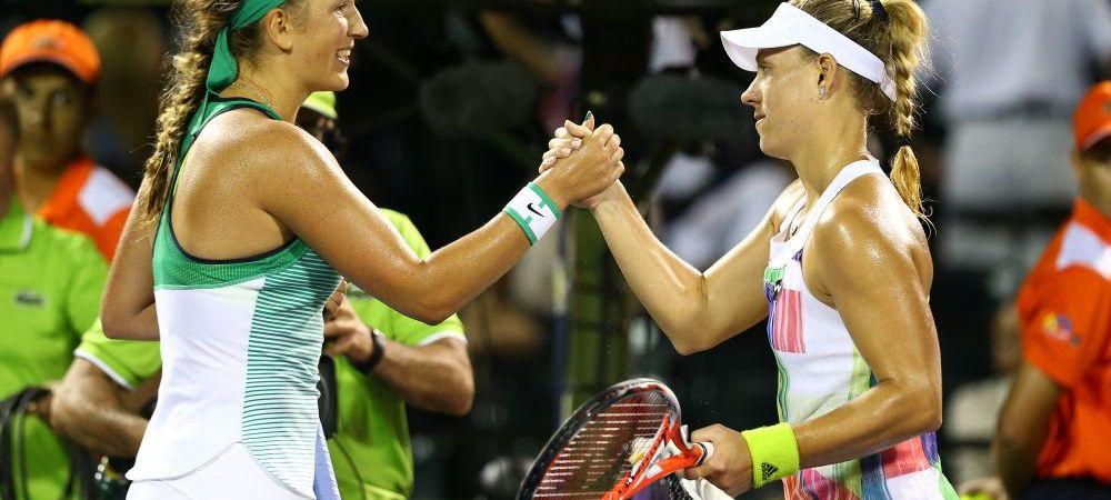 Revenire fulminanta a Azarenkai in topul WTA: bielorusa va juca finala de la Miami, dupa ce a batut-o pe Kerber. Azarenka va trece peste Halep in topul WTA