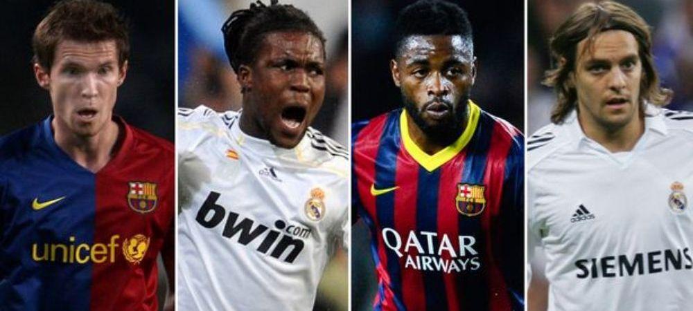 Lista RUSINII in El Clasico! Ce jucatori intra in cel mai slab 11 din istoria intalnirilor Barcelona - Real Madrid