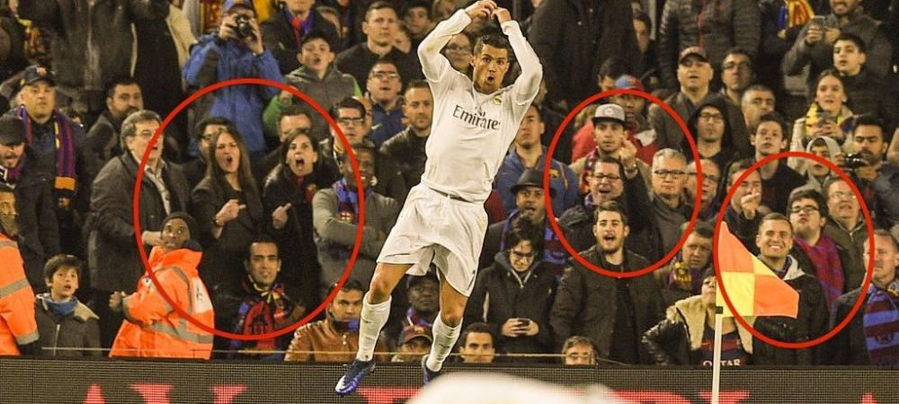 Gesturile facute in spatele lui Ronaldo dupa golul care a decis El Clasico! Ce au facut fanii Barcelonei