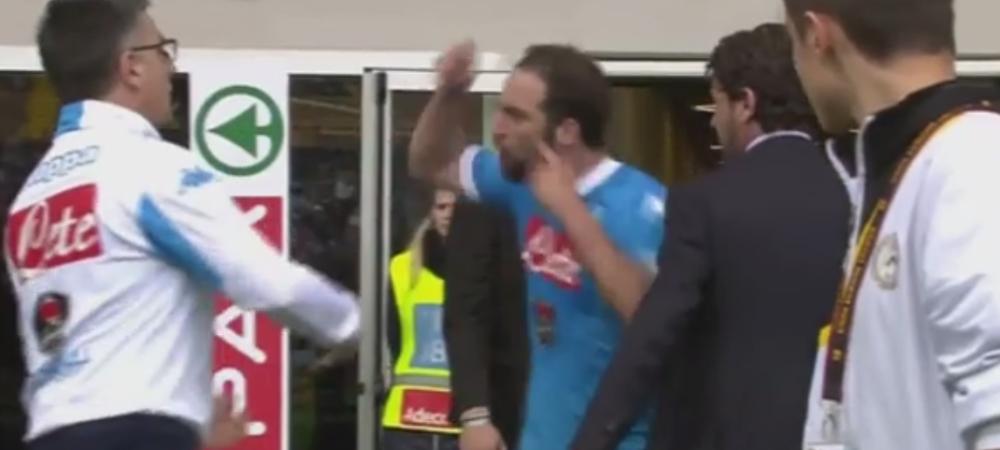 Reactia nebuna a lui Higuain in momentul in care si-a dat seama ca Napoli a pierdut titlul: a vrut sa bata pe toata lumea! VIDEO