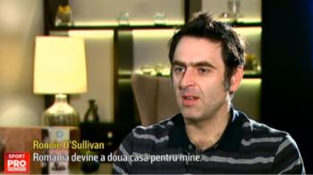 """Marele Ronnie O'Sullivan s-a indragostit de Romania si face un anunt minunat: """"Eu imi iau o casa aici!"""""""