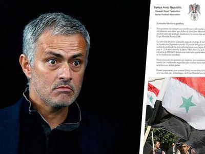 "Ii propun un contract ""BOMBA"" :) Nu este o gluma! Mourinho a primit o propunere oficiala sa preia nationala Siriei"