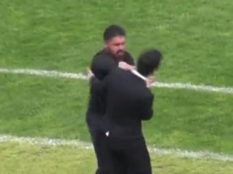 Pitbull pe teren, mult mai rau in afara lui! Imagini senzationale cu antrenorul Gattuso, in liga a treia italiana | VIDEO