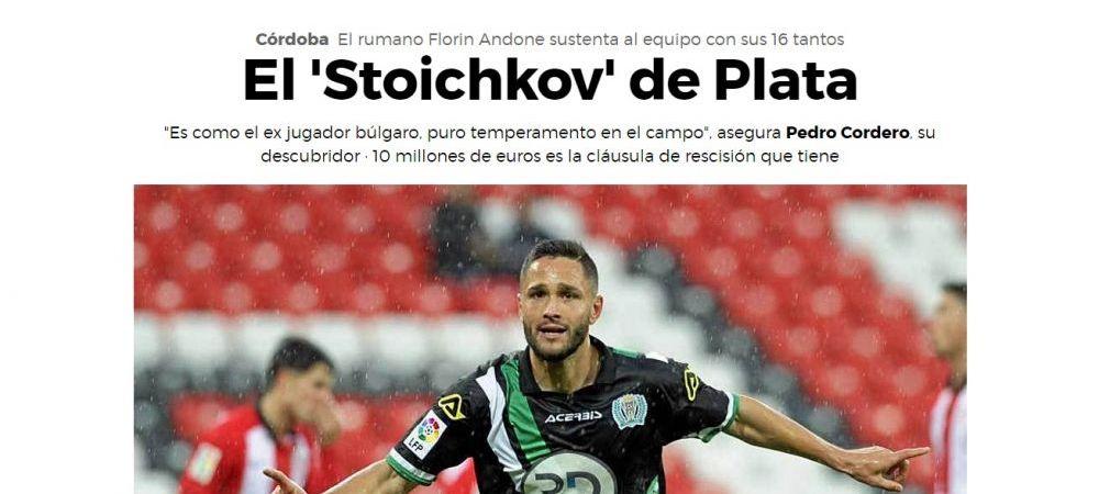 """Marca face o comparatie incredibila pentru Florin Andone, """"Stoicikov de ARGINT"""" din Romania: """"Stiti ce mi-a zis Florin? Ca va ajunge departe in fotbal"""""""