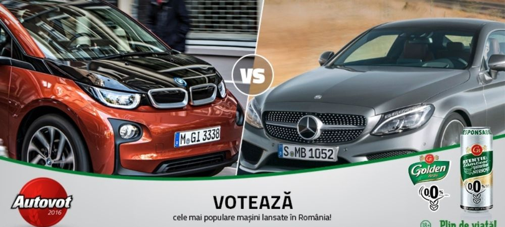 Duelurile zilei in Autovot 2016: BMW i3 vs. Mercedes Clasa C Coupe si Toyota Avensis vs. Skoda Superb