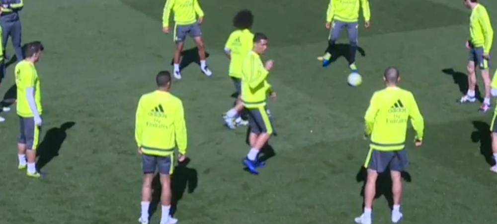 Gestul lui Cristiano Ronaldo dupa ce a primit mingea printre picioare la antrenament! Ce semn i-a facut lui Danilo