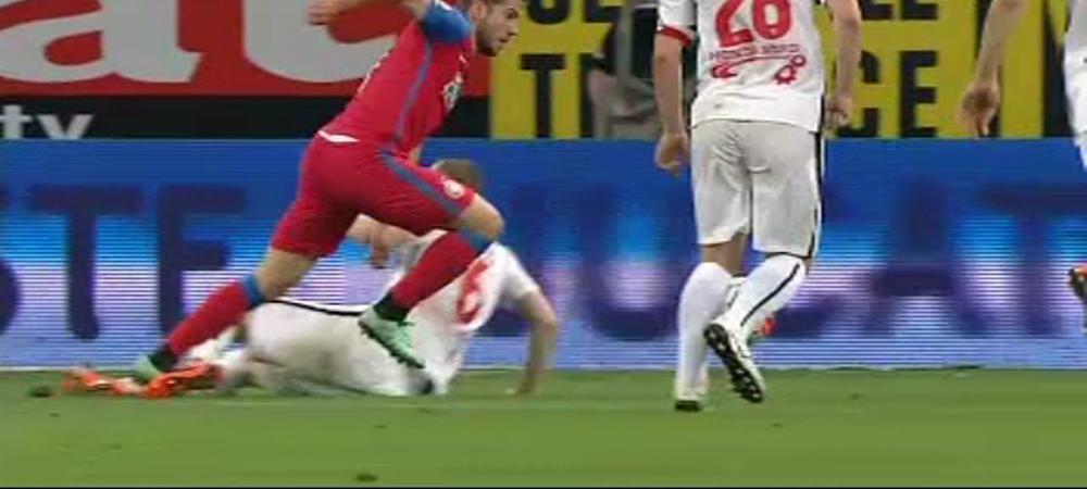 Stelistii au cerut doua penaltyuri in DOUA MINUTE cu Dinamo, Tudor n-a dat nimic! Vezi aici fazele si comenteaza: