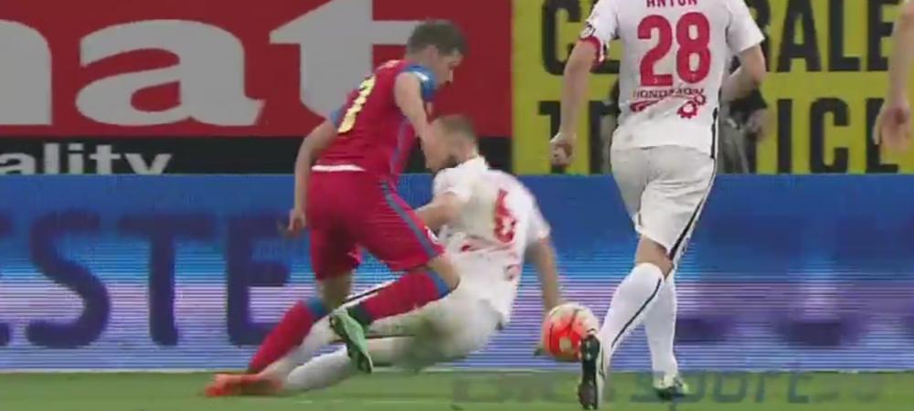 Chipciu a cazut GRESIT! :) Penalty clar pentru Steaua, plonjonul artistic al lui Chipciu l-a intors pe Tudor.Ce spune Craciunescu