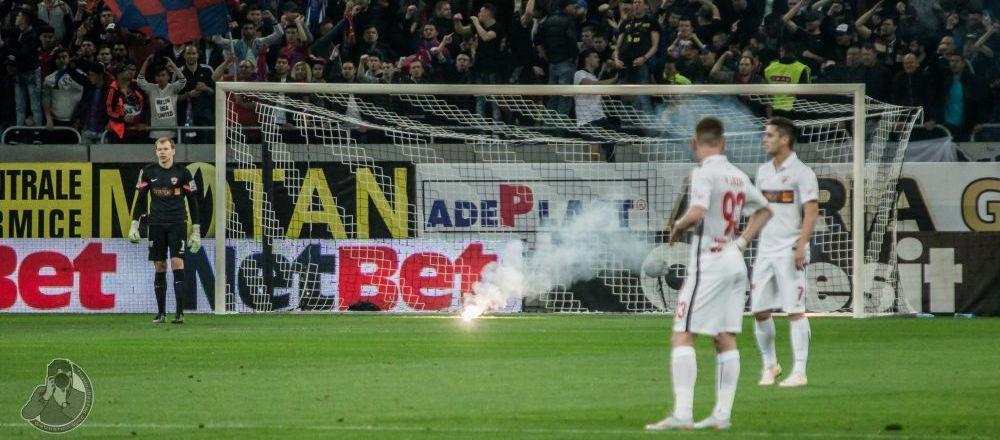 Steaua, amenda cu 33 000 de lei la primul derby cu suporterii langa ea dupa un an si jumatate! 9 fani, interzisi pe stadioane