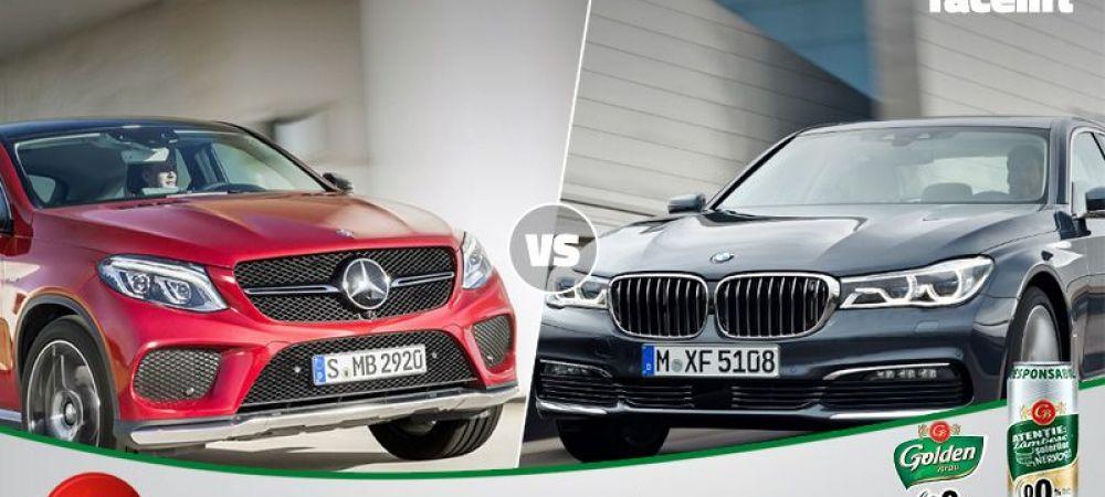 David versus Goliat astazi in Autovot 2016: BMW Seria 1 si Mercedes GLE Coupe se bat in competitia popularitatii