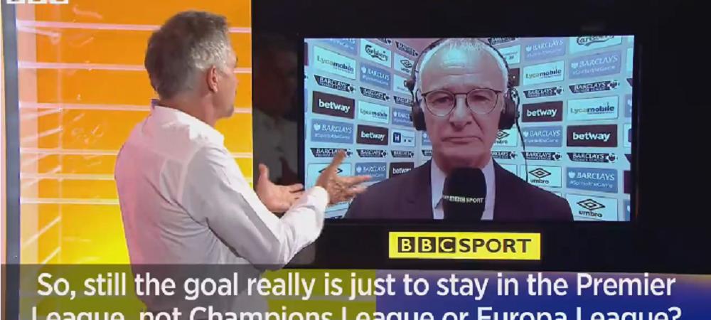 VIDEO MEMORABIL! Cat de mare e miracolul in Premier League! Reactia fantastica a lui Ranieri cand a fost intrebat, in august, daca se gandeste la Champions League