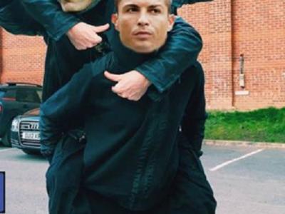 Cele mai tari meme-uri de pe net dupa seara miraculoasa a lui Ronaldo! Pe cine duce in spate in aceasta poza :)