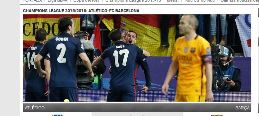 """""""Eliminati cu FURACIUNE! Rusine, Rizzoli, ne-ai jefuit!"""" Ziarele Barcei pun tunurile pe arbitrul care nu a dat penalty Barcei in ultimul minut!"""