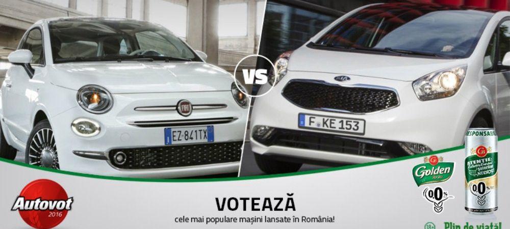 Duelul de astazi in Autovot 2016: Fiat 500 versus Kia Venga