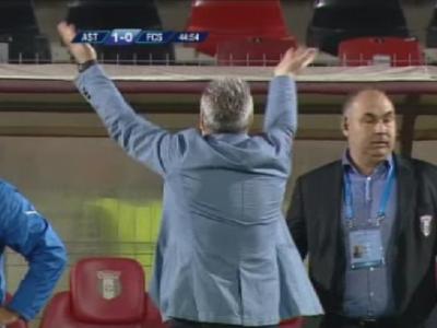 """Cu cine s-a bucurat Sumudica la gol? :) Cine era in sectorul din spatele bancii lui si cui ii facea semne """"a la Diego Simeone"""""""