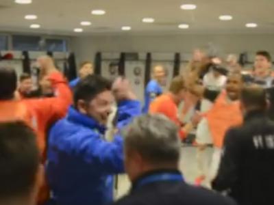 Bucuria nebuna a jucatorilor Astrei in vestiar, la cateva secunde dupa finalul meciului! VIDEO
