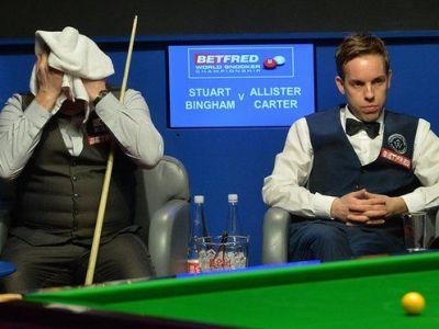 """Surpriza imensa la Mondialul de snooker! Stuart Bingham a cunoscut """"blestemul"""" in fata lui Ali Carter"""