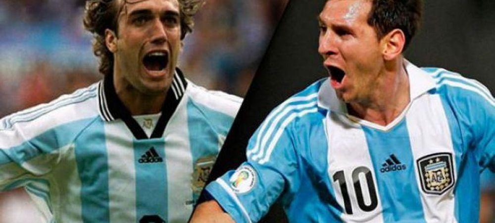 """Ma deranjeaza ca Messi imi va intrece recordul"" INCREDIBIL! Primul fotbalist sincer :)) Batistuta e trist ca va fi detronat"