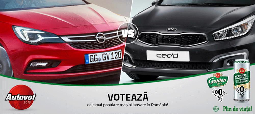 Lupta compacta astazi in Autovot 2016: Kia Cee'd facelift versus noul Opel Astra