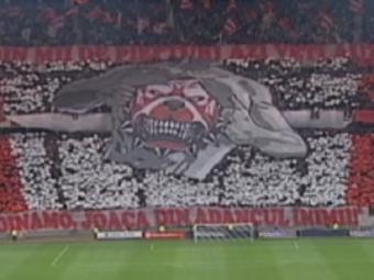Steaua joaca acasa IN DEPLASARE! Coregrafia realizata de fanii dinamovisti la derby. Care e mesajul peluzei VIDEO