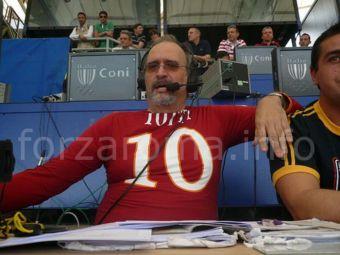 VIDEO: Reactia memorabila a comentatorului italian la golul lui Totti: A PLANS in direct ca un copil!