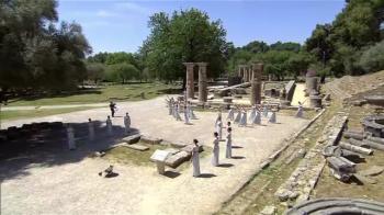 Momente emotionante pentru Camelia Potec! A fost prezenta in Grecia la aprinderea tortei olimpice