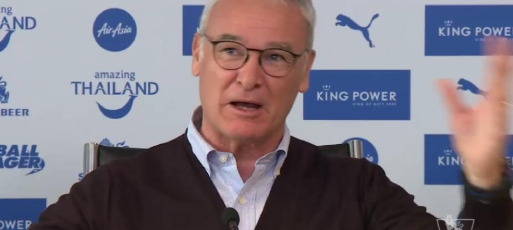 """A innebunit Ranieri :) Scena de milioane la conferinta de presa: """"Baai, suntem in Champions League, dilly ding dilly dong! Pochettino, stai calm!"""""""