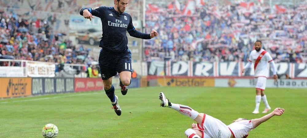"""Inca o """"remontada"""" fenomenala a Realului. Condusi cu 2-0 de Rayo in minutul 13, madrilenii au revenit si au castigat: Bale, erou in lipsa lui Ronaldo"""