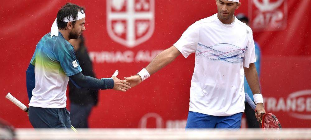 Finalele turneului de la Bucuresti se joaca luni. Meciul lui Tecau si Mergea a fost intrerupt dupa un set si se va relua maine, la 9:30