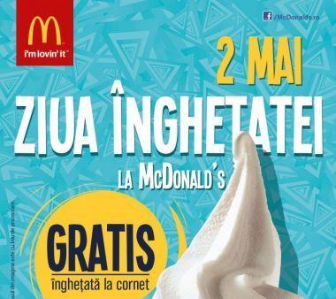 (P) Sarbatoreste pe 2 mai Ziua Inghetatei la McDonald's