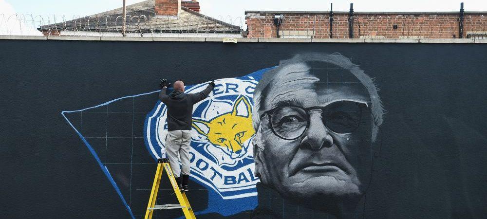 """Leicester si Ranieri, ca Napoli-ul lui Maradona. Suporterii i-au desenat portretul italianului pe un zid din oras. Discursul antrenorului: """"Sa facem o poveste de Hollywood"""""""