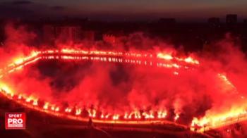 SUPER VIDEO | Ultrasii Legiei Varsovia au facut din noapte zi: au aprins sute de torte la centenarul clubului