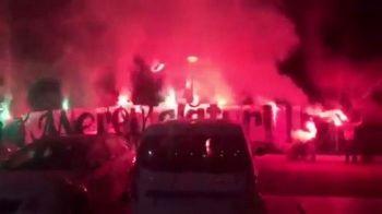 Victorie astazi si Rapidul este 90% in Liga I! Imagini fantastice surprinse noaptea trecuta la Calarasi: suporterii au mers sa cante pentru jucatori VIDEO