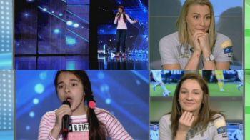VIDEO Moment emotionant cu Campioanele Europei, Cristina Varzaru si Bella Gullden! Ce reactie au avut la momentul magic de la Romanii au Talent