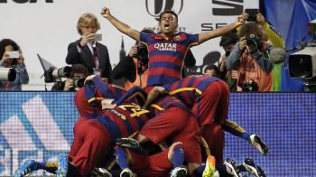Barcelona reuseste eventul dupa 2-0 cu Sevilla in finala Cupei Spaniei. 2 pase geniale ale lui Messi au decis meciul in prelungiri
