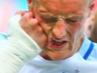 E nebun! :) Reactia lui Vardy dupa o ratare in meciul Angliei: si-a dat un pumn in fata cu mana la care are o fractura inca din toamna VIDEO