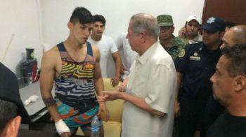 Primele imagini cu Alan Pulido dupa ce a fost recuperat din mainile RAPITORILOR! Jucatorul lui Olympiakos a trecut prin clipe de groaza