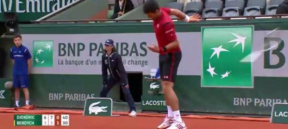 VIDEO! Djokovic, la un pas sa fie ELIMINAT de la Roland Garros, dupa un gest incredibil! A aruncat cu racheta in arbitru