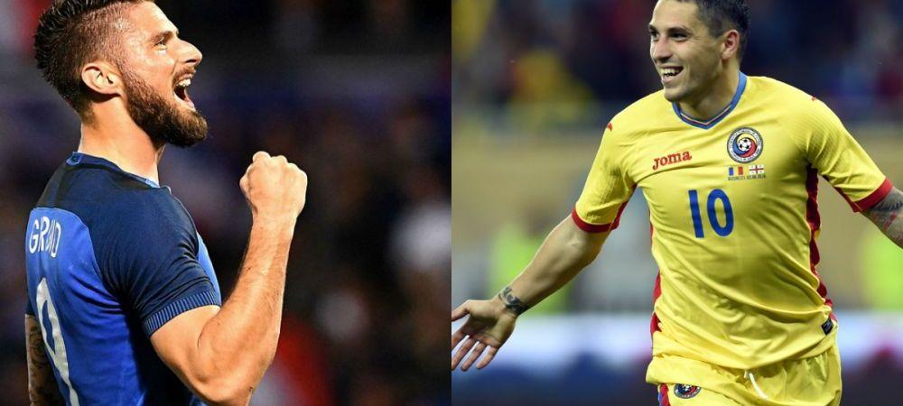 CONFRUNTAREA TITANILOR! Giroud si Stanciu sunt 'ON FIRE' inainte de primul meci la Euro! Cifre uluitoare pentru cei doi. Romania - Franta, vineri la ProTV