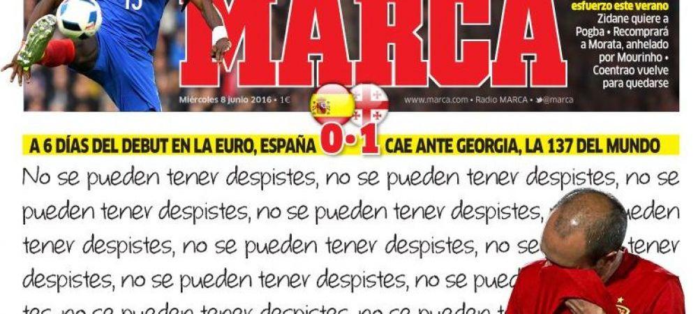 Surpriza URIASA pentru vedetele Spaniei: infrangere la Madrid cu Georgia in ultimul meci dinaintea Euro! TOATE vedetele au jucat