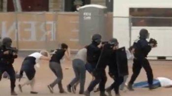 Nivelul rosu de amenintare terorista in Franta: autoritatile fac exercitii zilnice, inclusiv in interiorul fan zone-urilor din marile orase | VIDEO