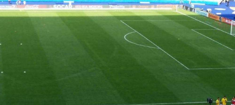 Au lasat traseele pe gazon :) Gafa francezilor pentru meciul cu Romania din deschiderea Euro! Ce au uitat pe teren