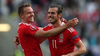 Bale a marcat dintr-o lovitura libera de la 25 de metri, Tara Galilor castiga primul meci in grupa Angliei si e LIDER! VIDEO Tara Galilor 2-1 Slovacia