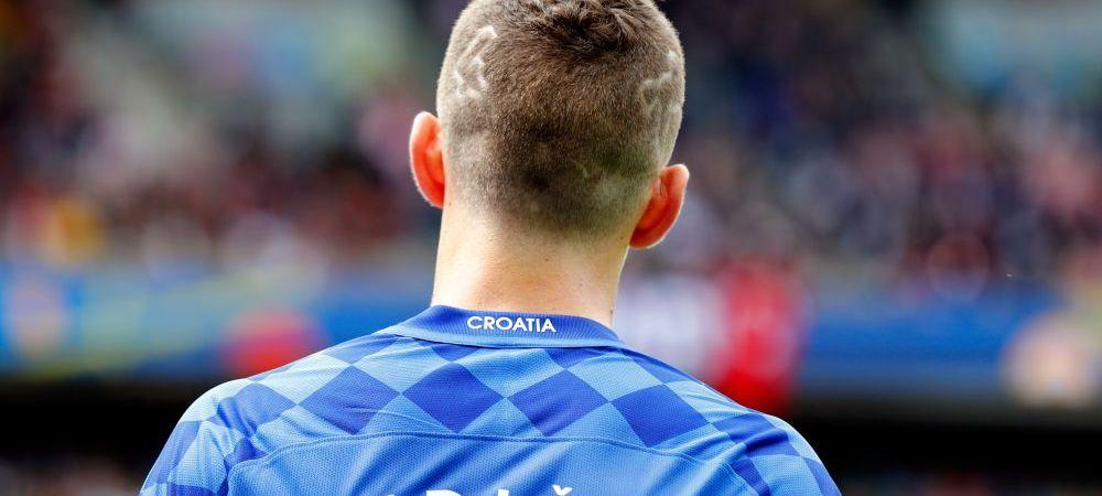 FOTO SENZATIONAL! Singurul jucator de la Euro care si-a TUNS harta tarii sale pe cap. Cum a aparut pe teren