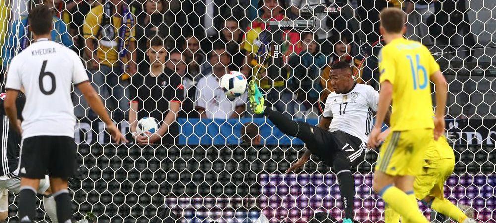 Moment DRAMATIC in Germania - Ucraina! Boateng si-a salvat echipa dupa ce a scos mingea de pe LINIA PORTII! Super VIDEO