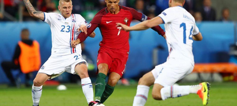 """""""Ronaldo e un loser si un inchipuit"""". Unul dintre eroii Islandei l-a facut praf pe Ronaldo la finalul meciului de aseara"""
