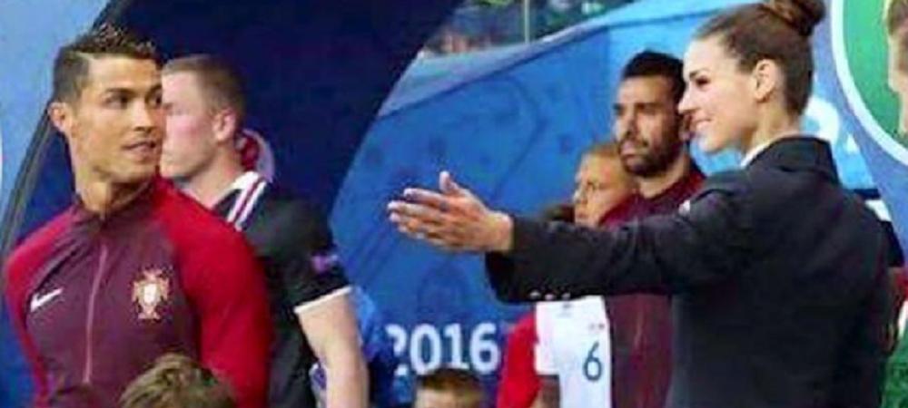 """""""M-a sunat mama dupa meci: Ai vazut, mama, cum s-a uitat baiatul ala la tine?"""" :) Cine este fata care l-a hipnotizat pe Ronaldo in primul meci la Euro"""